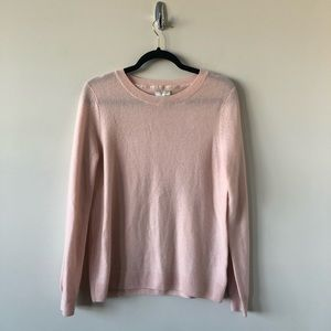 Joie Cashmere/Wool Baby Pink Crewneck Sweater